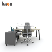 modern executive desk office table with side cabinet