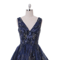 Chinese Navy Blue Crystal Handmade Beaded Middle East Evening Dresses