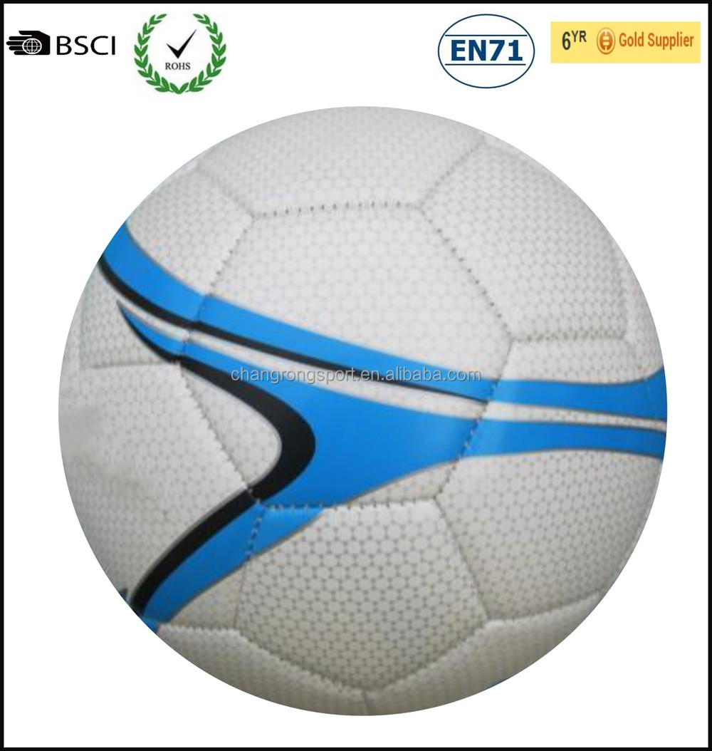 Patterned TPU soccer ball, machine stitched