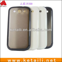 Simple Design PC+PU Cell Phone Case For Samsung Galaxy S4