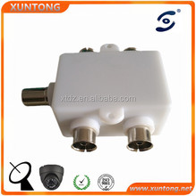 Coax TV PAL Male to F Female RF Adapter Connector