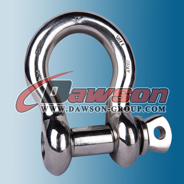 Hot Forged Stainless Steel D Shackles Screw Pin Bow Shackle for sale