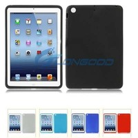 Gift Black Flexible Silicone Case Mini Cover Case For iPad Mini