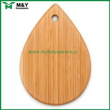 Elegant drop shape bamboo chopping board