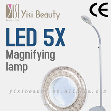 5X Magnifying Lamp Floor Stand cool light Ballast Starter Facial Skin Salon floor lamp WITH CE