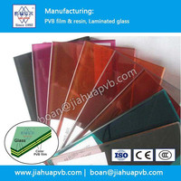 stained glass with 0.38mm colored PVB FILM for laminated glass