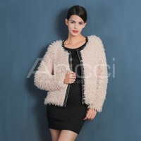 Beautiful Women wholesale Clothes Sheep Faux Fur Coat