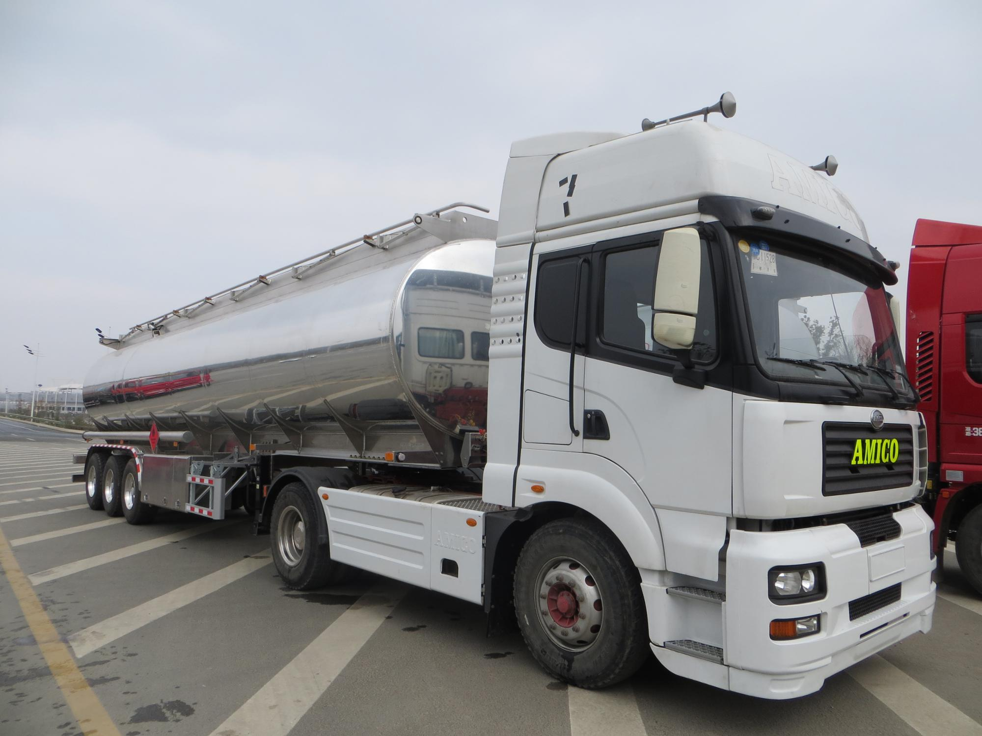 3axle from 28000liters to 48000liters Aluminum Alloy Fuel Tanker Semi-trailer