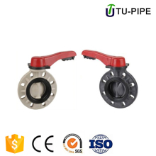 UPVC high pressure 8 inch manual butterfly valve handles DN200
