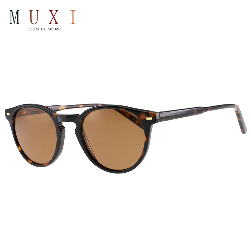 Bulk buy designer vintage round outdoor driving shades polarized unisex acetate sunglasses 2019