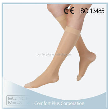 Closed toe 18-21mmHg Knee high compression socks