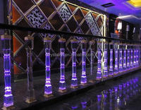 Crystal glass Led lighted handrail