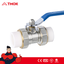 DN20 PPR Brass Heat Fusion Plumbing Fitting Double Union Socket Ball Valve