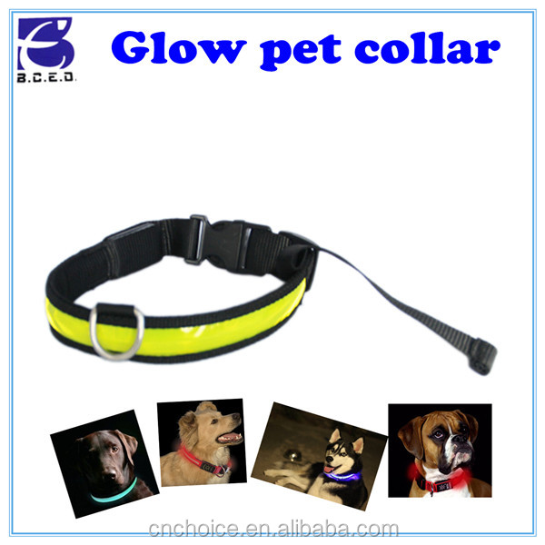 wholesale pet products hands free plastic PVC dog puppy lightening led collars dog pet leash