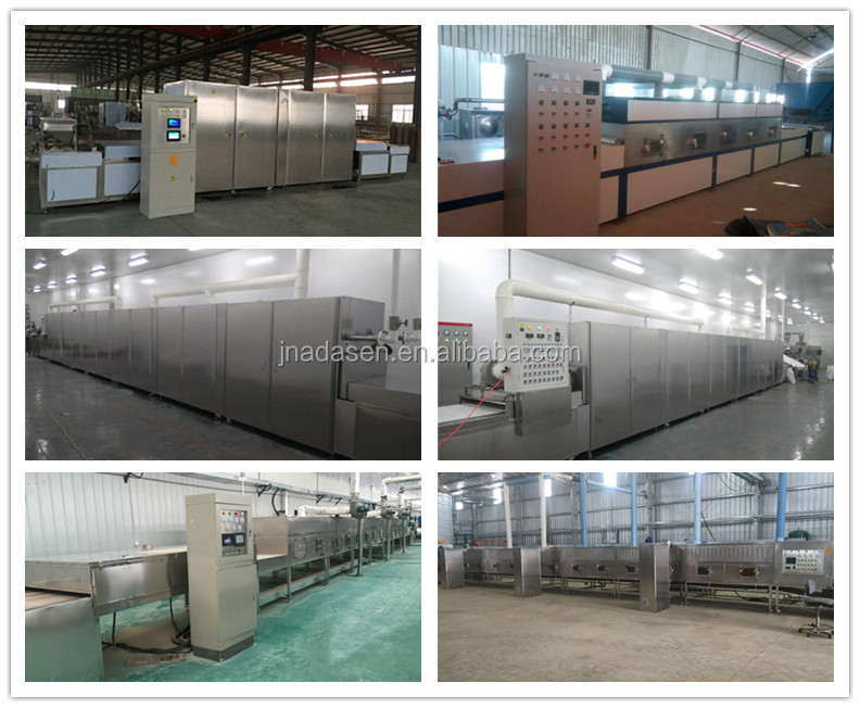 Industrial continuous microwave dryer machine for grain with CE
