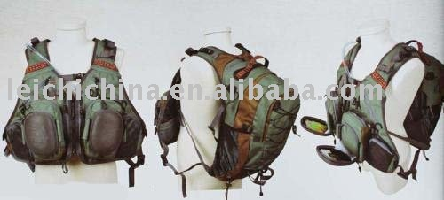 fishing tackle--fly fishing vest, backpack CP10-52373