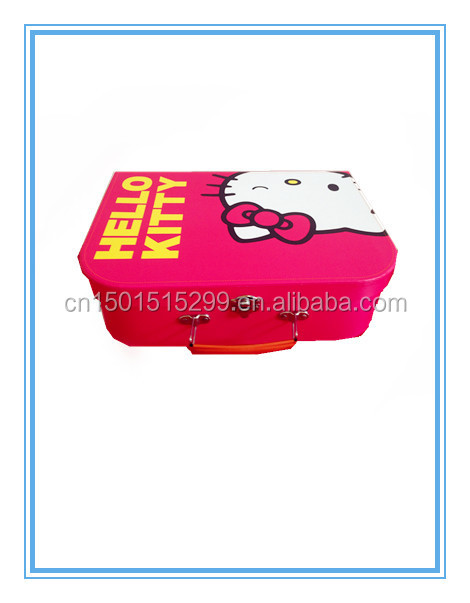 Round Mini cardboard suitcase box for kids