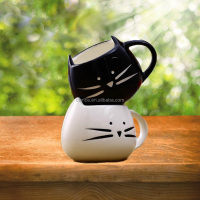 ceramic cat mug in cat design coffee mug