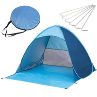 Waterproof automatic quickly open single layer 2 person outdoor camping hiking beach sun shade one touch pop up tent