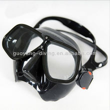 Profesional commercial diving equipment metal frame diving mask low volume freediving mask