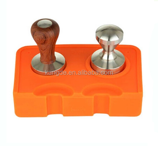 silicone coffee corner tamping mat, food grade silicone coffee tamper pads, corner tamping mat