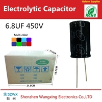 High voltage high reliability Aluminum electrolytic capacitor 6.8UF 450V