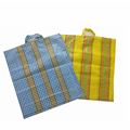 China wholesale Promotional pp woven plastic women shopping bag with handle