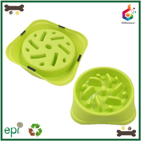 Hot selling safe plastic slow feed dog bowl for eating food