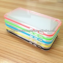2 IN 1 Combo Soft TPU+PC frames Case For Iphone5C 13 Colors