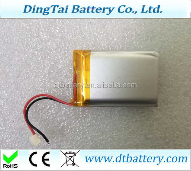 small size lithium ion polymer battery 783759 3.7v 1800mah li-ion polymer battery for e-book reader, the story, game consoles