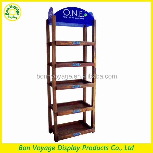 Alibaba express antique wooden display shelf for supermarket