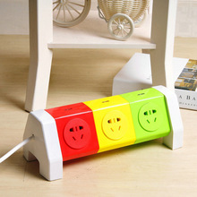 8 Outlet Power Strip Rotation Socket Colorful Power Strip 2 USB Outlet Max Load 2500W Power