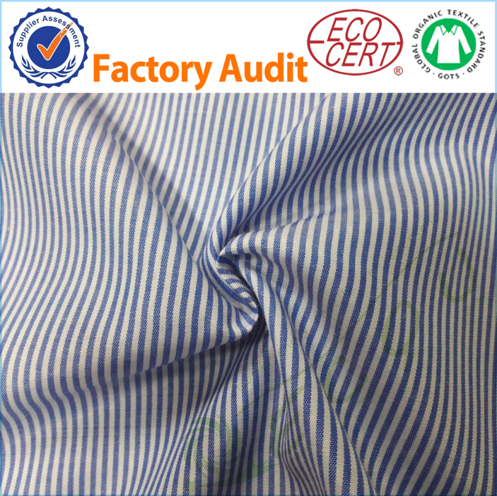 polyester fabric stripe fabric polyester woven fabric for garment