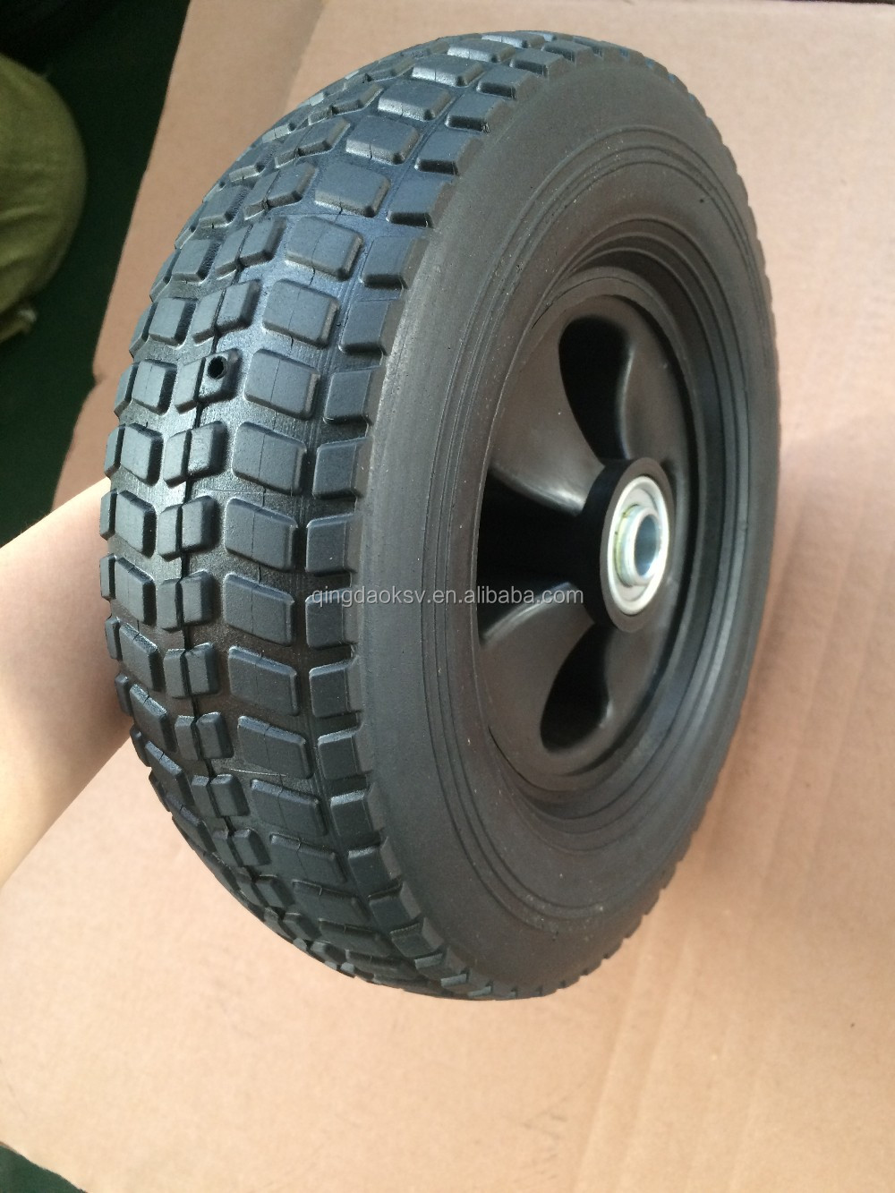 used for American market 10inch semi-pneumatic rubber wheels