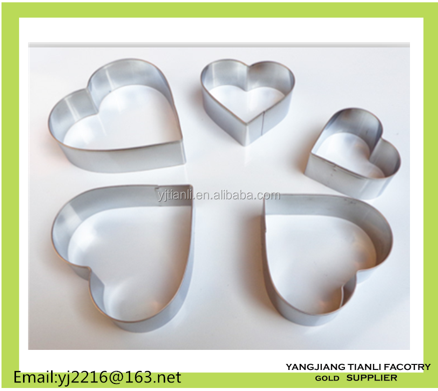 Mini heart shape metal Pudding cutter Mould in Baking Tool