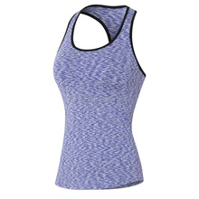 Ladies gym wear singlet , wholesale gym wear logo printing factory