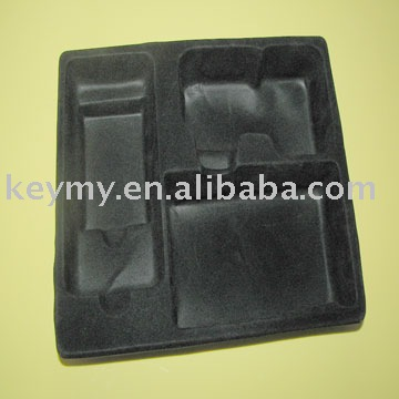 flocked blister tray for cosmetic product packaging