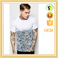mens t shirt with half sublimation printed