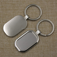Wholesale custom engraved name card keychains