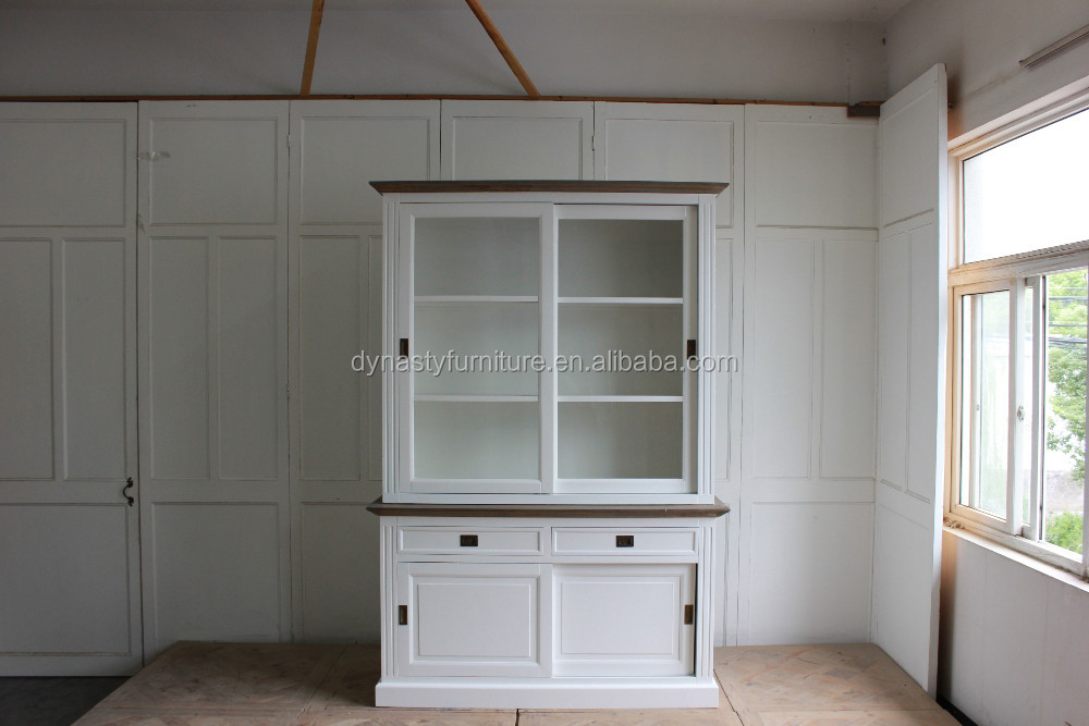 french style white living room cabinet divider design