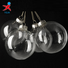 Clear hanging glass craft ball ornaments