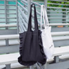 New style blank tote bag art craft black canvas cotton bag