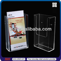 TSD-A026 Facrory custom wall mount brochure holder,acrylic document display stand,wall mount acrylic document holder