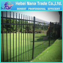 aluminium fence post/spear top with twin flat/Aluminum square tube 38 x 38 x 1.6 square tube Picket:19 x 19 x 1.2mm