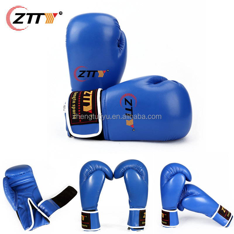 2016 new products wholesale high quality PU leather custom logo grant boxing gloves
