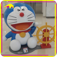 KANO0439 Amusemetn Park Fiberglass Carved Sculpture Doraemon