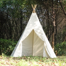 ShiJ Tipi Cotton Canvans Oversized Teepee Tent