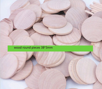 1.5 inch Round Disc Unfinished Wood Cutouts for Creating Jewelry /Painted /Decorated/ Craft Projects