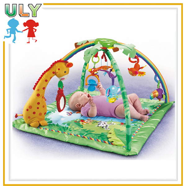 Imitation Fisher- price baby jungle play gym mat wholesale baby play mats with music