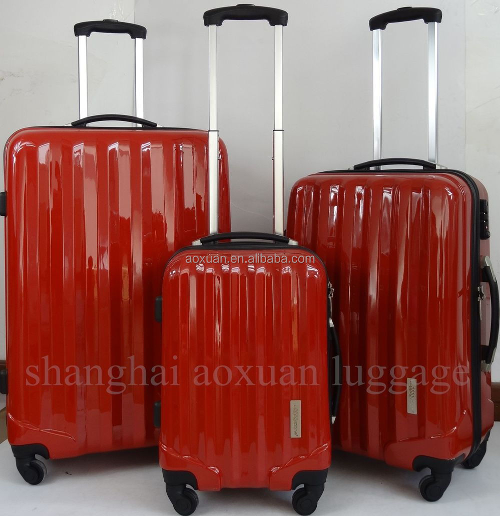 pc hard luggage/ classic spinner luggage set pc luggage set